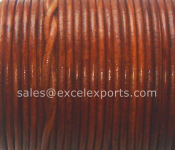 Round Leather cord 1mm